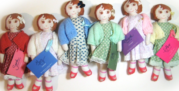Esther Ruth Mary Elizabeth Sarah Anna dolls from ladies of Grace