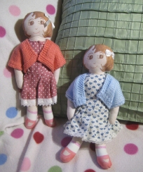 Red and Blue dolls