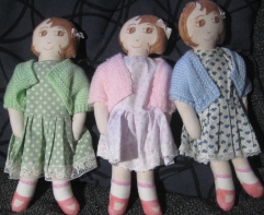Three little dolls