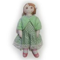 Green dress and cardigan