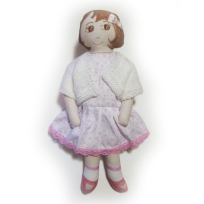 Cream and pink dress